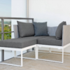 Contemporary Powder Coated Aluminum Textilene Multi Function Daybed