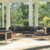 Modern Teak Cushion 3 Seater Sofa
