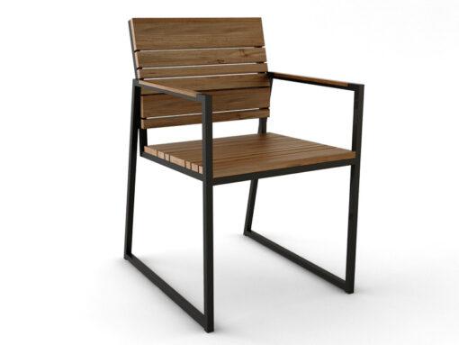 Bermudafied Dining Chair Modern Teak Slats
