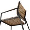 Bermudafied Dining Chair Modern Teak Slats Aluminum