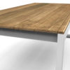 Bermudafied-Sleek teak white black Dining table-86.6-1