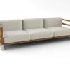 Bermudafied-modern beach house teak white black Sofa-3-Seat-3-1