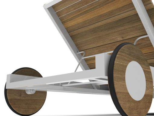 Bermudafied-modern horizontal teak black white chaise lounger wheels-3