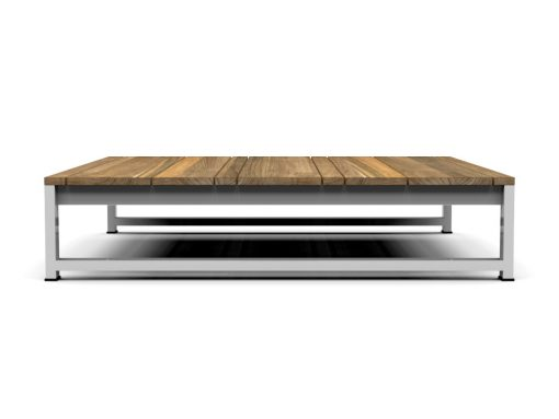 Bermudafied coffee table modern outdoor teak white black