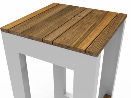 Bermudafied-modern farm house outdoor teak white black bar stool