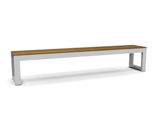 Bermudafied-modern outdoor teak white black bench hotel contract hospitality restaurant-Bench-92.5-3