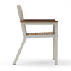 Bermudafied-modern teak white black Dining Arm Chair Wood-3