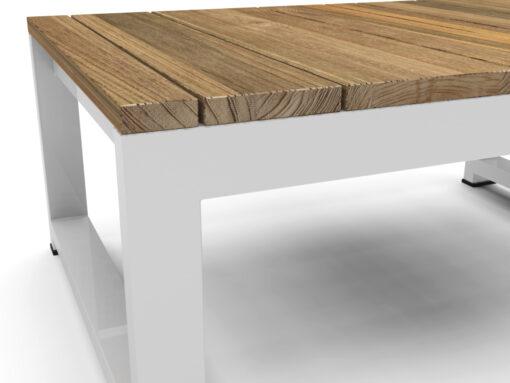 Bermudafied side table modern outdoor teak white black