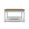 Bermudafied side table modern outdoor teak white black