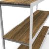 Bermudafied-modern teak white black outdoor storage shelves decor Rack-1