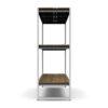 Bermudafied-modern teak white black outdoor storage shelves decor Rack-4