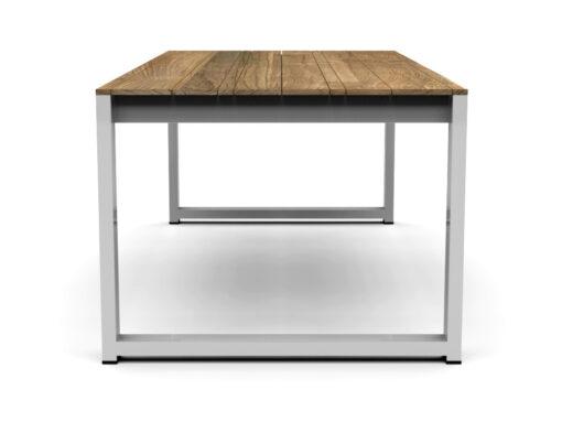 Bermudafied- sleek white black custom size large-Dining-Table-86.6-4