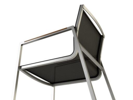 Bogart Luxury Outdoor Dining Chair Stainless Steel Teak