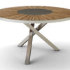 Bogart Luxury Round Dining Table Stainless Steel