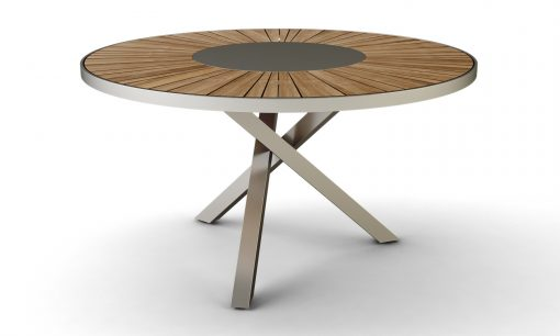 gart Luxury Round Dining Table Stainless Steel