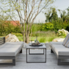 Modern Powder Coated Aluminum Multipurpose Outdoor 2 Seater Sofa