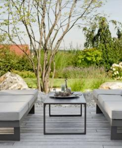 Modern Powder Coated Aluminum Multipurpose Outdoor 2 Seater Sofa