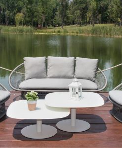 Divine 2 Seater Sofa Rope Textilene Spa all Weather Aluminum Contract Hospitality Commercial Pool Furniture