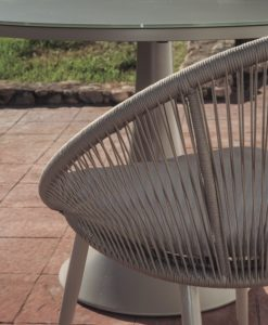 Divine Dining Chair Rope Restaurants all Weather Aluminum Contract Hospitality Commercial Pool Furniture