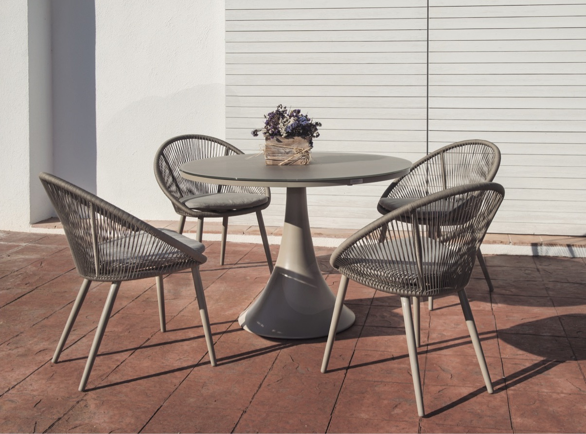 Divine Dining Collection Rope Textilene Spa All Weather Aluminum Contract  Hospitality Commercial Pool Furniture