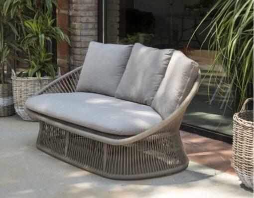 Divine transitional outdoor wicker loveseat sofa fl ny ct ca tx boston