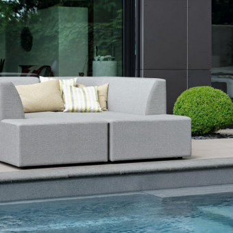 Aphordite  modular daybed outdoor fabric outdoor furniture modern luxe