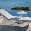 Dream chaise white modern outdoor sofa adjustable chaise lounger miami fl hamptons ny los angeles ca