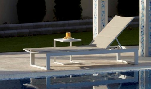 Firm modular outdoor chaise sun lounger contract hospitality hotel trade