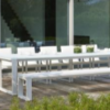 Firm modular outdoor xl dining table 12ft 12 14 people bench contract hospitality hotel trade