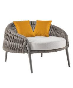 Kalife Club Chair Luxury Outdoor Rope Furniture Sunbrella Hamptons Sifas