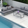 Modern Powder Coated Aluminum Multipurpose Balcony Sectional Sofa