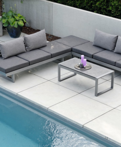 Modern Powder Coated Aluminum Multipurpose Balcony Sectional Sofa