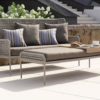 Modern Powder Coated Aluminum Rope Outdoor 3 Seater Sofa