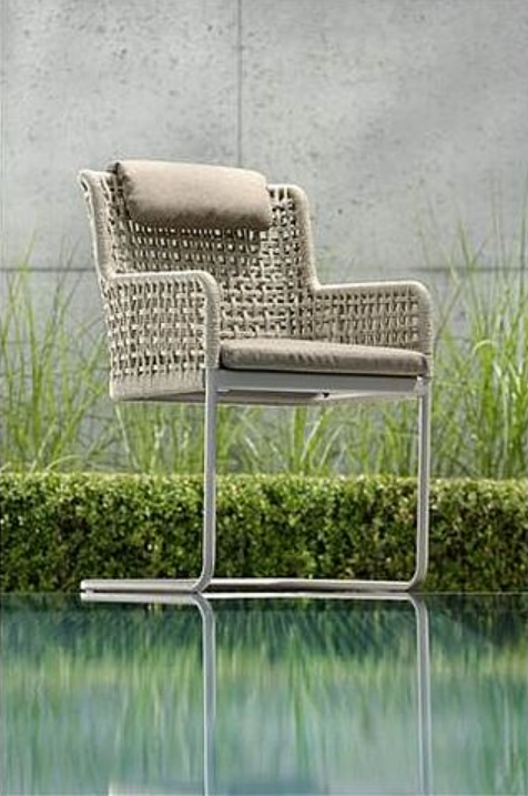 agreta dining cantilever champagne chair