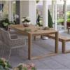 agreta dining w teak bench Luxury Contemporary Outdoor Furniture Hamptons Palm Beach