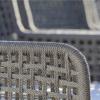 agreta grey rope dining  chair detail