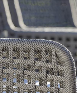 agreta grey rope dining chair detail