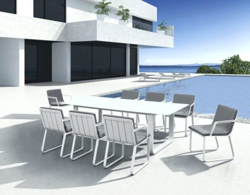 averon white contemporary modern dining chair large extendable table up to 12 person