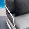 averon white grey modern club chair closeup