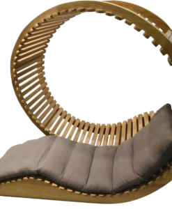 eclipse round natural teak double daybed modern daybed body cushion