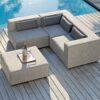 Adele sectional modular sofa transitional contemporary modern grey