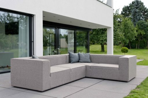 Adele sectional modular sofa transitional contemporary modern grey outdoor fabric