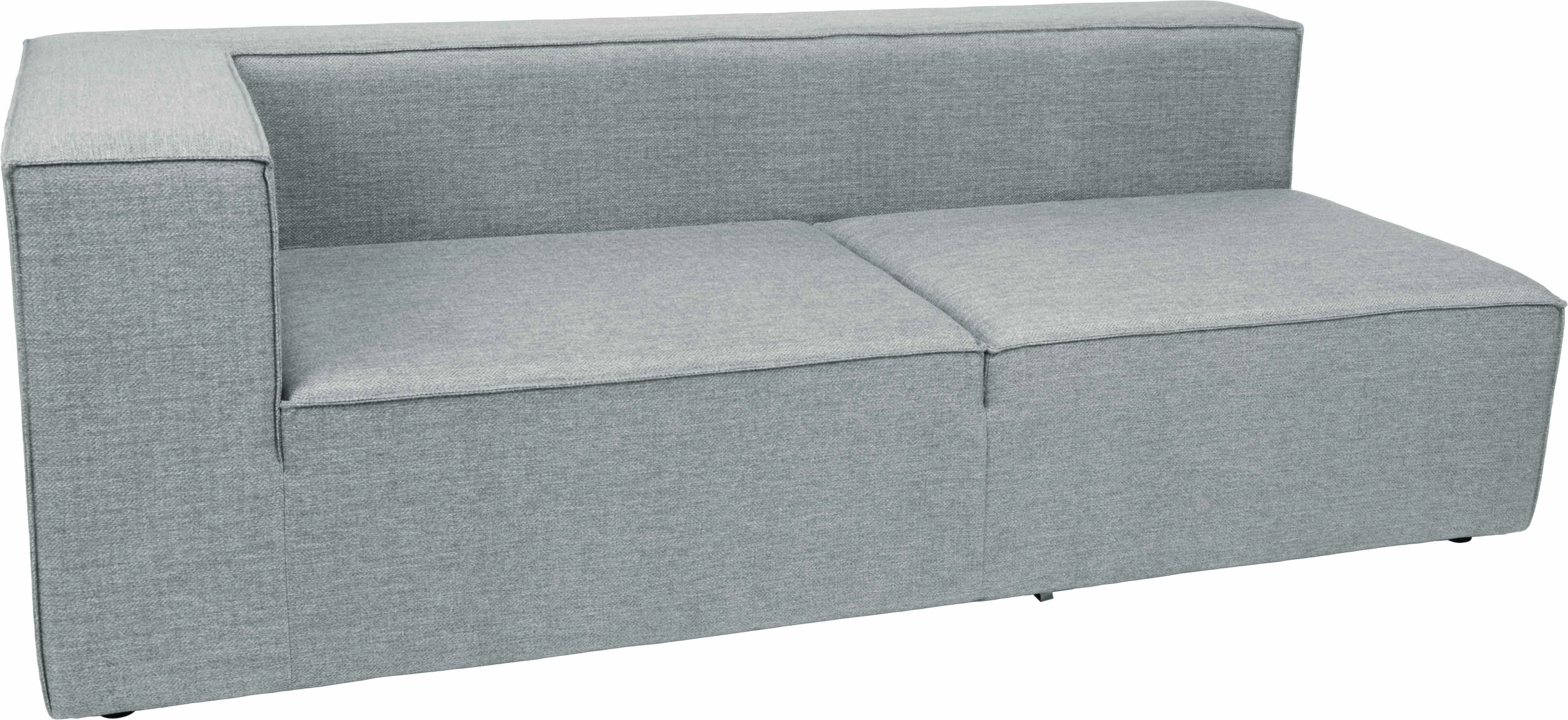Adele Sectional Right Arm Modular Sofa Transitional Contemporary Modern  Grey Outdoor European Fabric Herringbone