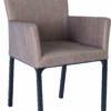 Adele stamskin taupe leather black frame