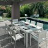 August Dining extendable glass modern  table chairs white batyline2