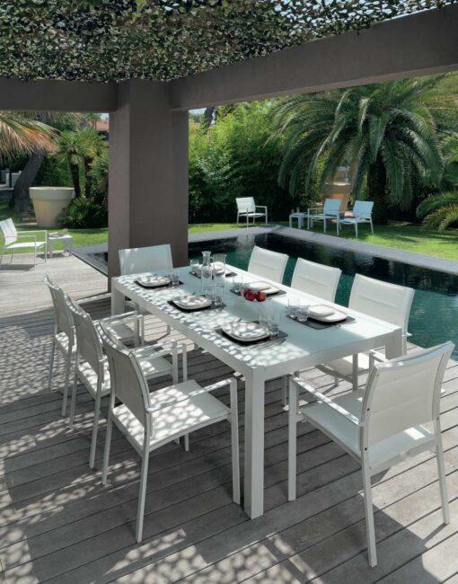 Modern Aluminum Textilene Dining Chair