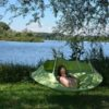 cozy modern hammock swing tree camp glamp green hang lake 7jpg