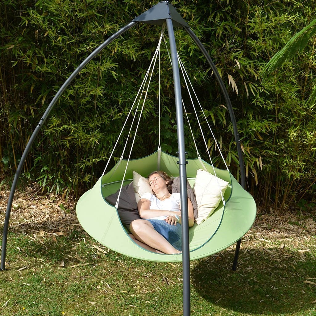 Cozy Modern Hammock Swing Tree Camp Glamp Green Hang Stand 7