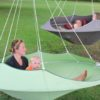 cozy modern hammock swing tree camp glamp green hanging 2