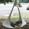 modern hammock open swing tree indoor swing camping glamping white2